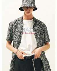 SLEAZY CORNER - Open Collar Shirt Paisley - Lyst