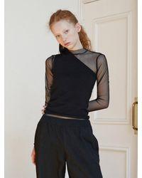 Baby Centaur Like Cashmere One Shoulder Knit [] - Black