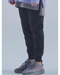MIGNONNEUF Mnfs Heavy Weight Logo Pocket Pants Black