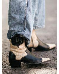 Alohas Western Boots Buffalo - Black