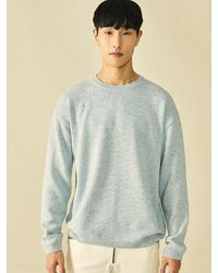 Heich Blade Nep Loose Fit Round Pull Over Skyblue - Multicolour