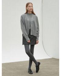 NILBY P - Wrap Mini Skirt Charcoal - Lyst