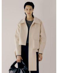 J.CHUNG Asymmetric Coat - White