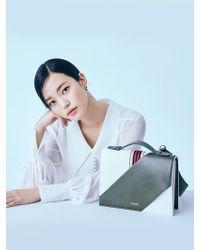 W Concept - Webbing Flip Bag Khaki - Lyst