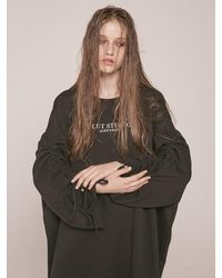 CLUT STUDIO [unisex] 0 3 Shirring Sweatshirt - Black