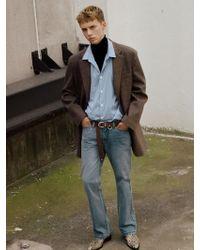 W Concept - Semi Boot Cut Jean Apa248m Blue - Lyst