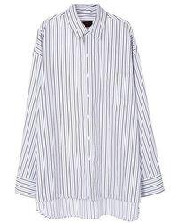 ONA Thin Stripe Shirts - Blue
