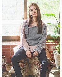 Grace Raiment - One-shoulder Buckle Knit - Lyst