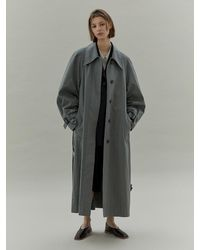 Low Classic Armhole Stitch Trench Coat - Green
