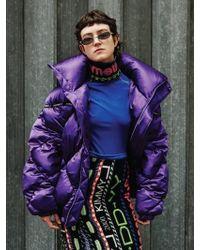 KIMMY J Puppy Pocket Down Jacket Purple