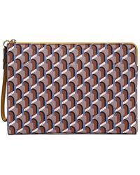 ROSA.K Monogram Clutch Bag M Camel - Multicolour