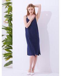 MILLOGREM Brevit Slip Dress - Blue