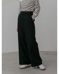 COLLABOTORY Belted Wide Pants 2 Colors - Brown