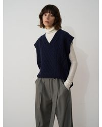 AEER Cable Vest - Blue