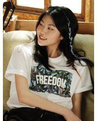 Chubasco   M T Shirt Weed Sb White M17103[unisex]   Lyst