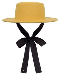 Awesome Needs Lambs Wool Boater Hat - Multicolour