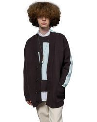 Heich Blade Front And Back Oversized Fit Cardigan - Brown