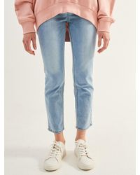 Plac Hart Light Washed Jeans - Blue