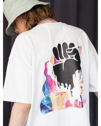 XTONZ Xtt018 Hand Paint T-shirt () - White