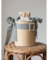 W Concept - Essential By Um Harrison Ribbon Bucket- Mist Blue - Lyst