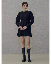 among A Cable Tie Knit Dress - White
