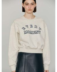 h:ours Every Moment Cotton Sweatshirt () - Grey