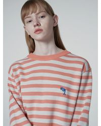 WAIKEI And Dolphin Striped Knit Coral - Pink