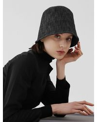 UNDERCONTROL STUDIO Stand Bucket Hat Broken Stripe - Gray