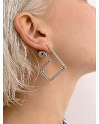 VIOLLINA - Hanguel Alphabet Single Earring-3 Silver - Lyst