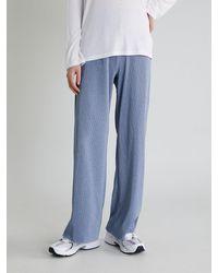 38comeoncommon Pleats Banding Pants - Blue