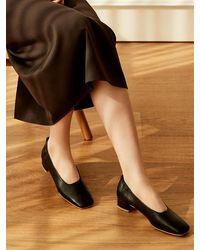 MARONY CROSHET Mc 004 Square Toe Mid Court Shoes Black