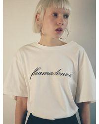 Fleamadonna Logo T Shirt 3 Colour - Pink