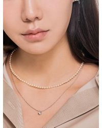 Matias - Mini Pearl Necklace Set _silver - Lyst