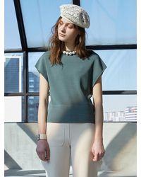 J.CHUNG Side Slit Knit Top - Green