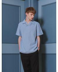 OWL91 - [unisex] Signature Collar Shirts Blue - Lyst