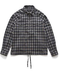 Eastlogue Scout Pullover Navy Gingham Check - Blue
