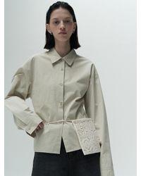 Amomento Crochet Mini Bag - White