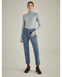 a.t.corner Signature Girl-fit Corduroy Pants - Blue