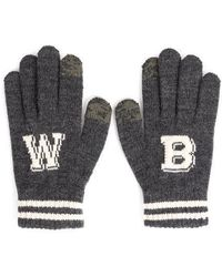 W Concept - Wb Touch Gloves Charcoal - Lyst