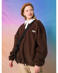 MAINBOOTH Unisex Boogie Fleece Sweatshirt - Brown