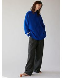 AEER Trousers Stripe Wide Eband - Blue