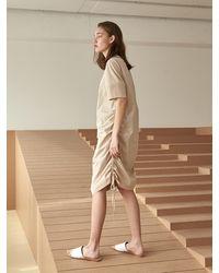 COLLABOTORY Utility Volume Dress - Natural