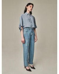 Bouton - Walker Denim Trousers Blue - Lyst