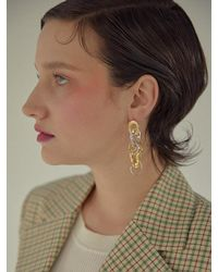 Yuul Yie Gold Oyster Chain Earring Gold Silver - Metallic