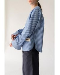 AEER Trousers Cotton Wide Nv - Blue