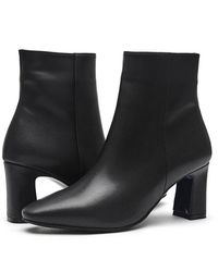 Intense Clothing Simple Modern Ankle-boots - White
