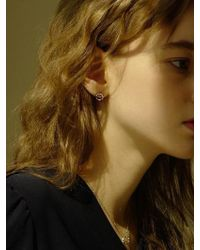 FLOWOOM - Cabochon Dot Earrings - Lyst