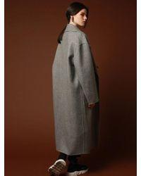 VRUMOUS Handmade Wool Overfit Ballon Coat Gray