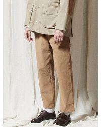 URBANDTYPE Pl044_coduroy Banding Pants_mustard - Multicolour