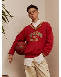 MAINBOOTH Buzzer Beater Sweatshirt - Red
